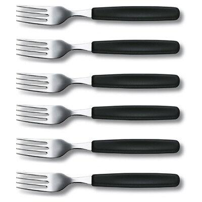 Victorinox Tafelgabel, schwarz, 6er-Set