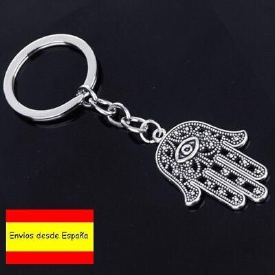 Llavero Mano de Fatima metalizado Key chain NUEVO