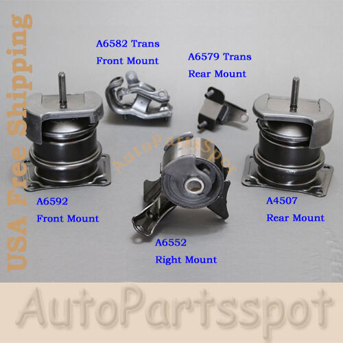 Engine motor trans mount kit 5pcs for 1999 2003 acura tl 3 2l auto trans g049 ebay Acura motor mounts