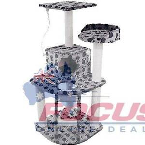 Cat Scratching Poles Post Furniture Tree House Condo Black/Grey North Melbourne Melbourne City Preview