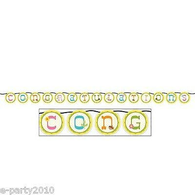 HAPPI TREE OWL CONGRATULATIONS BANNER ~ Baby Shower Party Supplies Decorations](Owl Baby Shower Supplies)