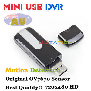 U10 AU HD Motion-Activated Mini Hidden USB Flash Drive DVR Camera DV (NO SPY !!)