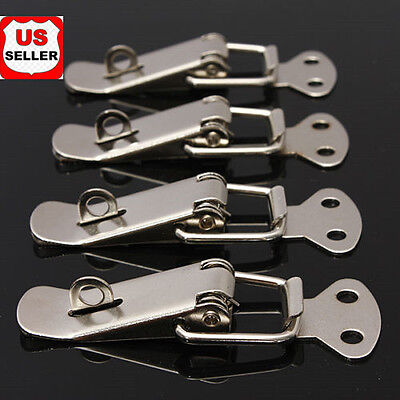 4pcs Steel Spring Draw Toggle Latch Catch For Cases Boxes Chests