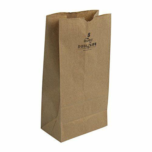 Duro 18408 SOS Bag 35# 100% Recycled Natural Kraft, 500 Piece