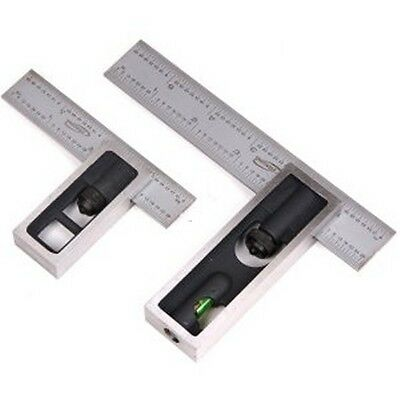 Pair 6    4   High Precision Double Square 4R Steel Blade Machinist Woodworking