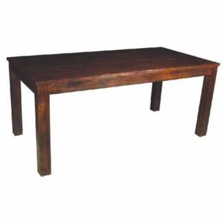 Brand New Solid Mango Wood Dining Table with only a tiny dent Lidcombe Auburn Area Preview