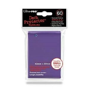 60-Ultra-Pro-DECK-PROTECTOR-Card-Sleeves-PURPLE-YuGiOh-Small-Size-82687-1-pack