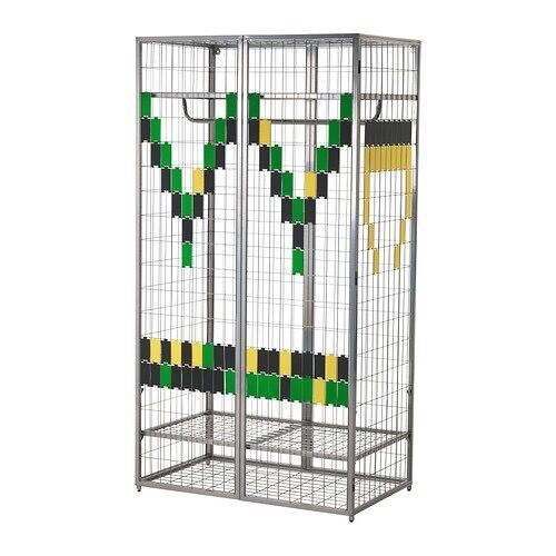 ikea ps grey cage metal wardrobe in london gumtree. Black Bedroom Furniture Sets. Home Design Ideas