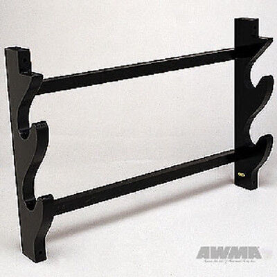 2 Sword Wall Rack Weapon Display - Martial Arts Weapons Rack