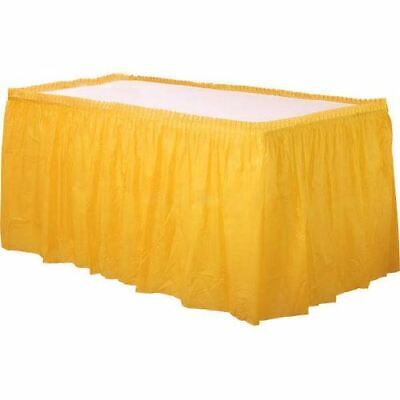 Disposable Table Skirts (Sun Yellow Plastic Table Skirt by)