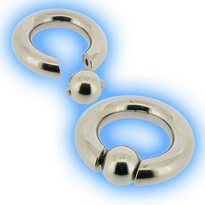 Fit Gauge (Easy Fit Large Gauge BCR 4mm 6g Heavy CBR Ball Closure Ring PA Prince Albert  )