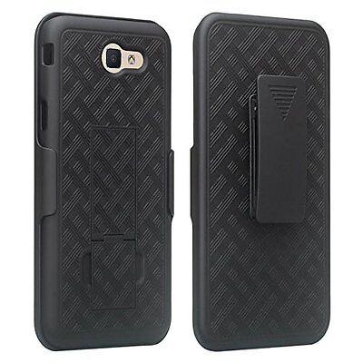Samsung Galaxy J7V J7 Prime (2017) Slim Slide Hard Shell Belt Clip Holster Case