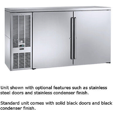 Perlick Bbs60 60 Two-section Refrigerated Back Bar Cabinet