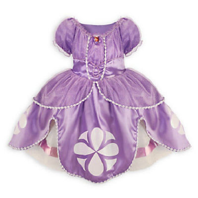 Disney Store Sophia the First Costume Dress SZ 7/8 Halloween NWT Sofia