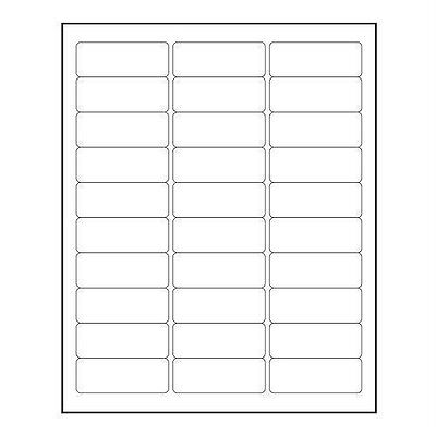 Return Address Labels - Blank Sheet Of 30 Labels Or Multiples
