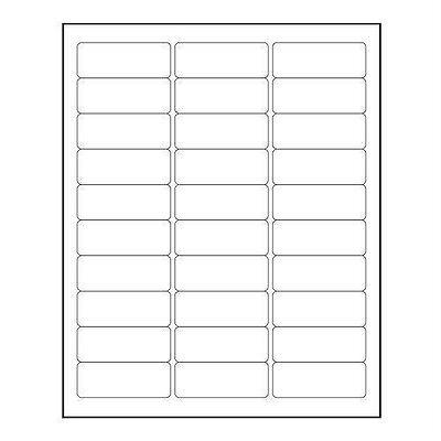 Return Address Labels - Blank Sheet Of 30 Labels Or Multiples