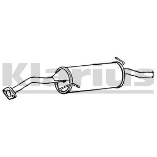 1x KLARIUS OE Quality Replacement Rear / End Silencer Exhaust For MAZDA Petrol