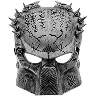 Predator Alien Maske Totenkopf Filmmaske Halloween Karneval Paintball - Silber