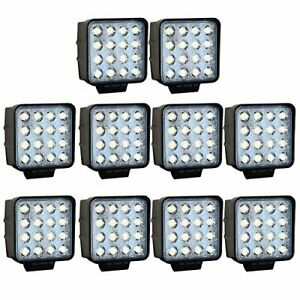 10x SPOT LIGHT 48W CARRÉ 4'' LED