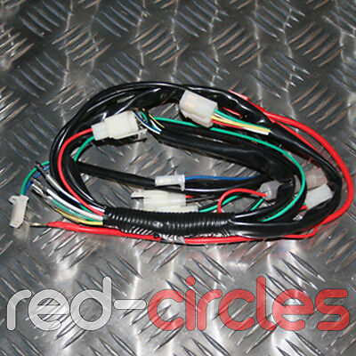 PIT DIRT BIKE WIRING LOOM HARNESS FOR ELECTRIC START 125cc 140cc PITBIKE