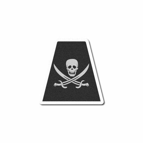 3M Reflective Fire Helmet Single Tetrahedrons - Pirate Skull Flag w/Swords Tet