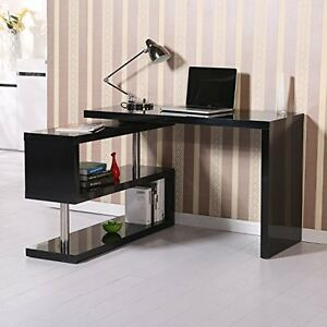 Table Desk Shelves Storage Organizer Coffee Computer
