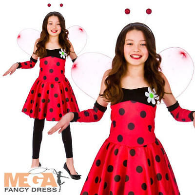 Lovely Lady Bug Kostüme (Lovely Ladybug Girls Costume Animal Ladybird Book Week Insect Kids Fancy Dress)