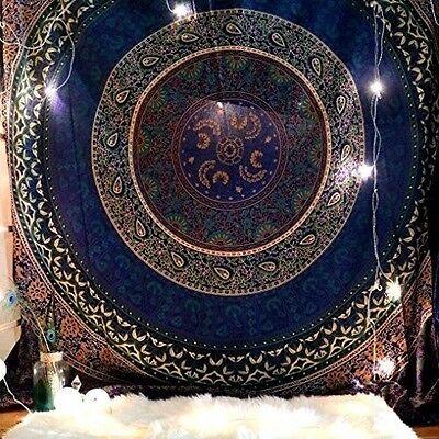 Indian Ethnic Mandala Wall Hanging Tapestry Bohemian Dorm Decor Hippie Bedspread