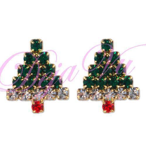 Swarovski Christmas Tree Decoration Set : Swarovski christmas tree earrings