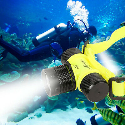 800LM LED Underwater Waterproof Diving Headlamp Flashlight Torch Headlight