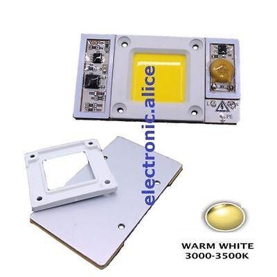 50w 220vac High Power Led Chip Built-in Driver Warm White 3000-3500k Led 1pcs