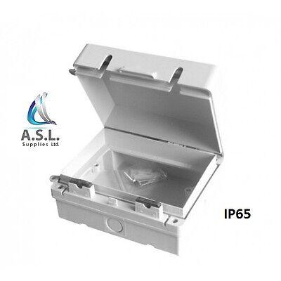 2 Gang Twin IP65 Outdoor Weatherproof Waterproof Enclosure Garden Socket Box
