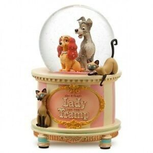 New Disney Store 25th Anniversary Lady and the Tramp Musical Snowglobe