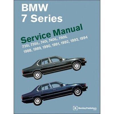 BMW 7 Series Service Manual 1988-1994 (E32)  book paper
