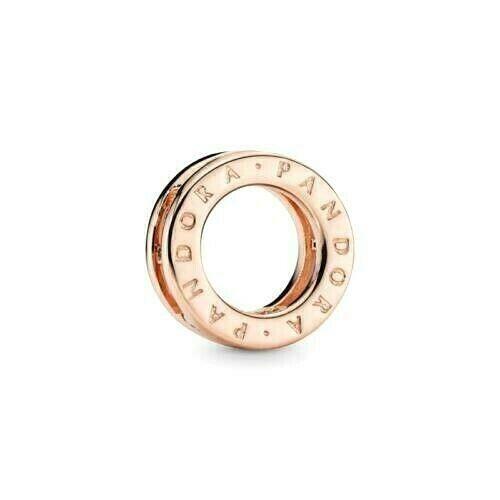 Genuine 14k Rose Gold Pandora Logo Circle Clip Charm 787598 - $5.50