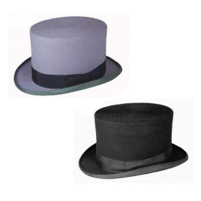 Men's Plain Wool Felt Top Hat Special Occasion, Wedding, Groom & Melbourne cup