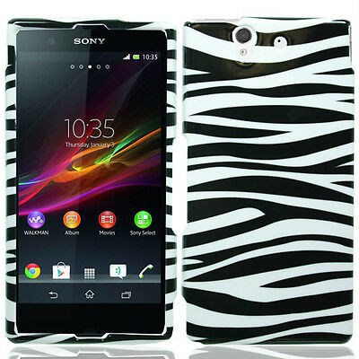 Zebra Faceplate Case (Zebra Faceplate Hard Cover Phone Case for Sony Yuga C6602 Xperia Z )