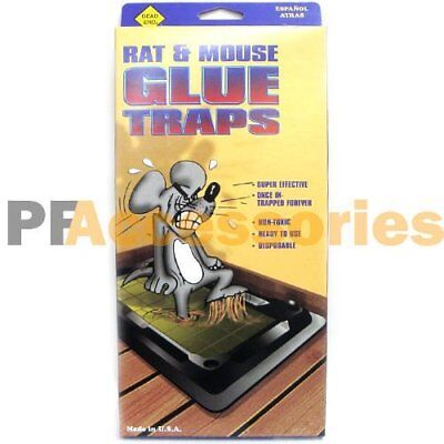 4 Pack Glue Mouse - Pack of 4 Disposable Glue Traps for Mice Rats Mouse Super Stick Tray Made in USA