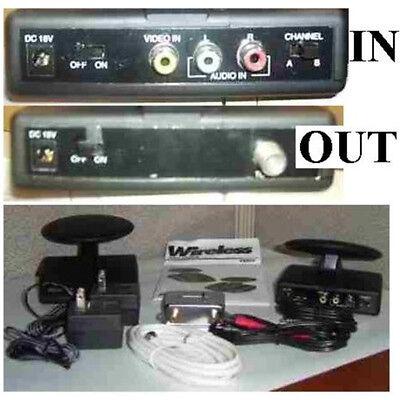 RF Transmitter/Modulator,Channel3/4,RCA Audio/Video/Stereo/TV/Antenna Adapter
