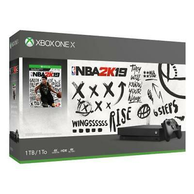1 X Black Package (Xbox One X 1TB NBA 2K19 Bundle - Digital download of NBA 2K19 included - Black )