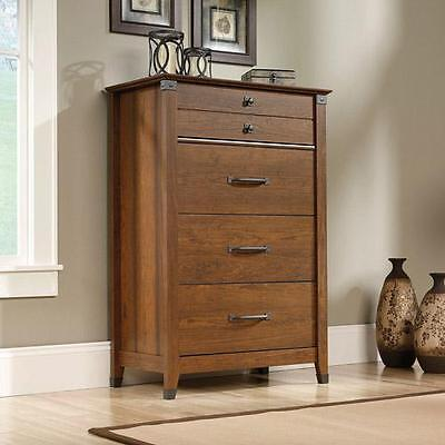 كومودينو جديد Chest of Drawers Bedroom Dresser Organizer Cabinet Wood Cherry 4 Drawer