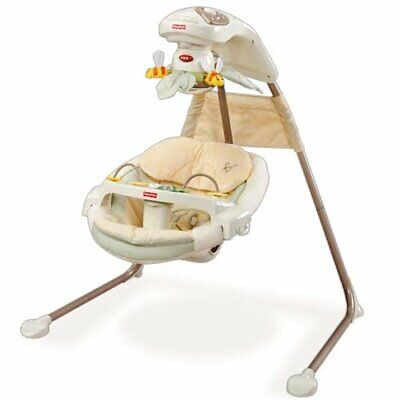 Fisher Price Baby Nature's Touch Papasan Cradle Swing M5585