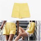 Zara Yellow Shorts for Women
