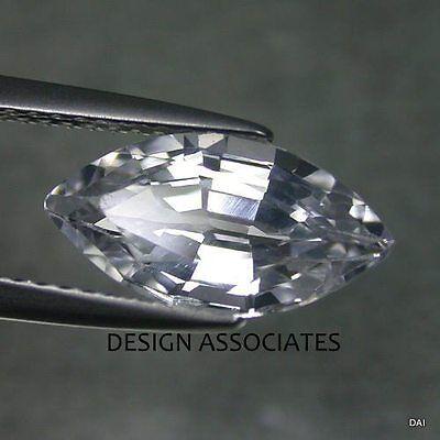 NATURAL WHITE SAPPHIRE 6x3 MM MARQUISE CUT DIAMOND COLOR