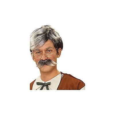 Geppetto Wig and Mustache - Grey - Grey Moustache And Wig