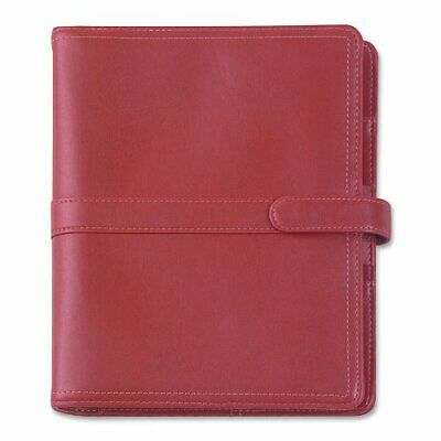 Day-timer Simulated Leather Organizer Magnetic Tab Red D44317
