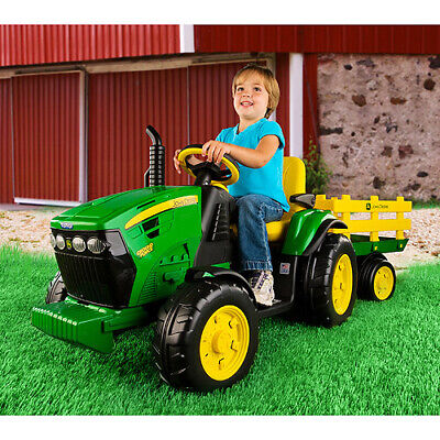 Kids Tractor Ride On 12 Volt Toy Ground Force Ages 3+ Outdoor Play with FM Radio