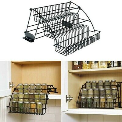 - Rubbermaid Pull Down Cabinet Spice Rack Tier Organizer Wire Holder Storage