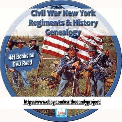 08af8d06d82553 441 pdfs New York Civil War Regiment History Genealogy Collection Rare 3  DVDs