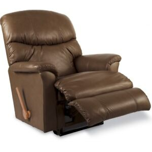 Lazyboy Leather recliner and 3 seater.